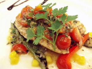 カジキマグロと夏野菜のグリル プロヴァンス風