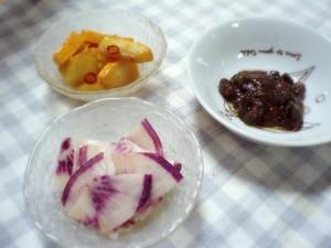 野菜の小鉢三品
