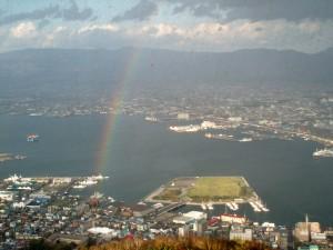 函館山から観た虹