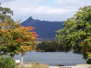 大沼から駒ヶ岳を望む